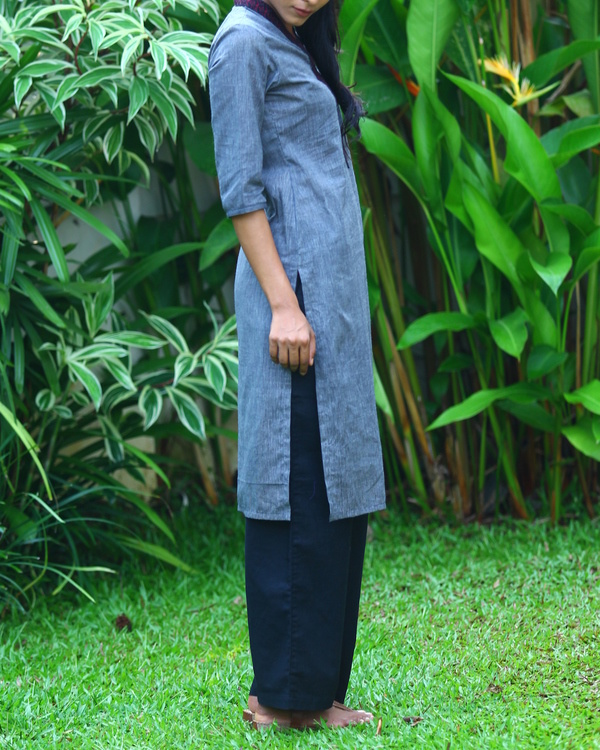 Zaffre striped cotton kurta 1