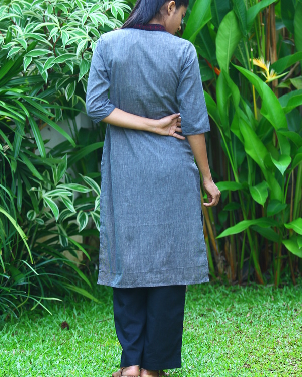 Zaffre striped cotton kurta 2