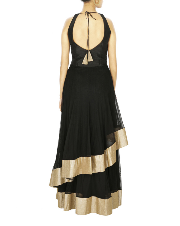 Anarkali gown in silk and net 1