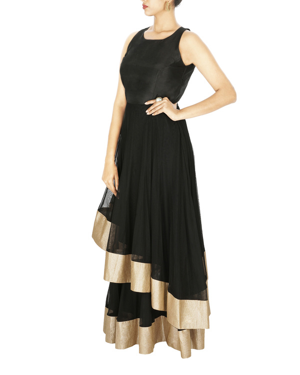 Anarkali gown in silk and net 2