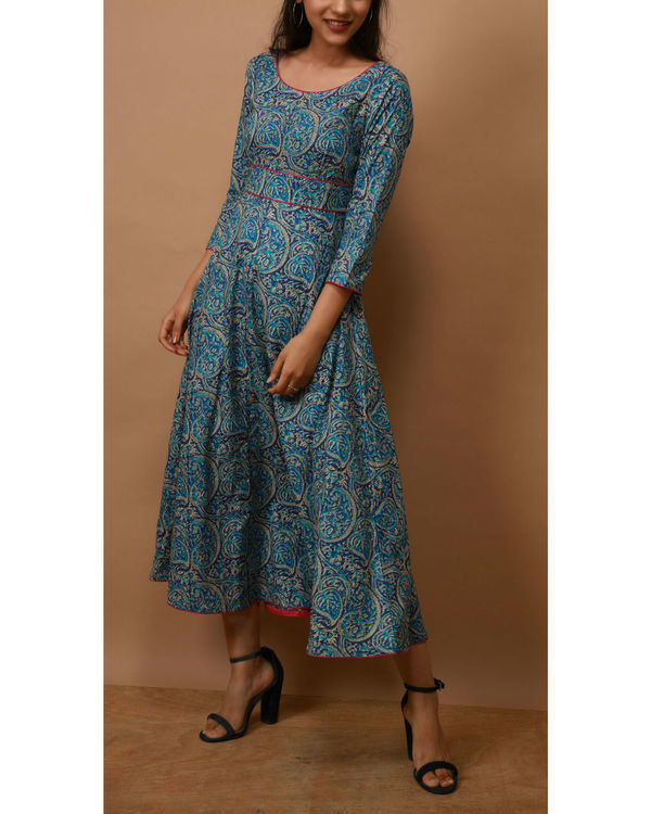 Blue paisley dress 1