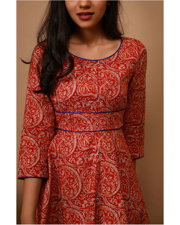 Apple red paisley tunic 1