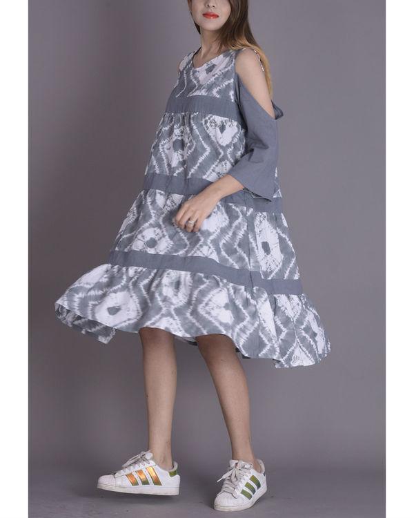 Soft grey tier dress 1
