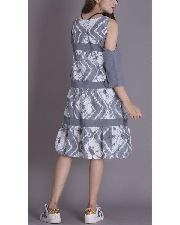 Soft grey tier dress 2