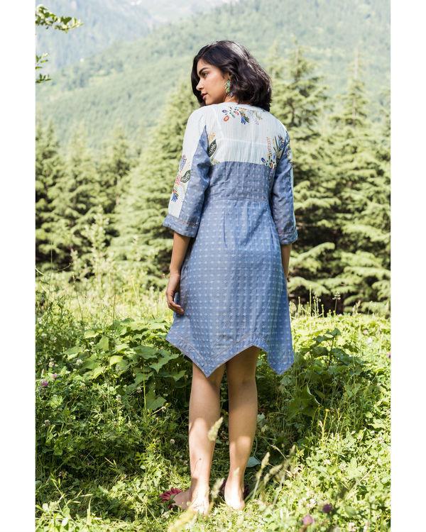 Rainforest heather blue mini dress 1