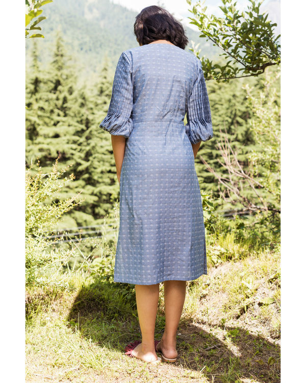 Rainforest heather blue pencil dress 2