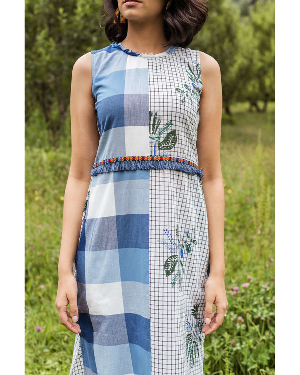 Blue checkered rainforest maxi 1