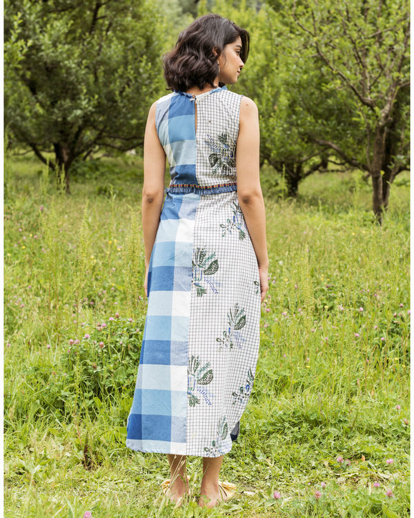 Blue checkered rainforest maxi 2