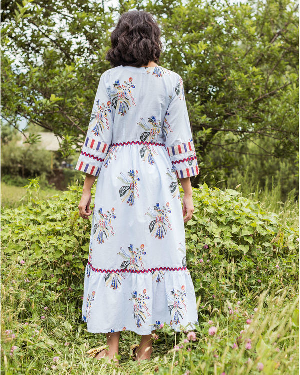 Rainforest paradise peasant dress 1