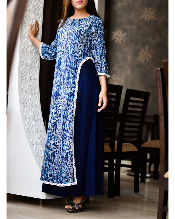 Royal blue double layered dress 1