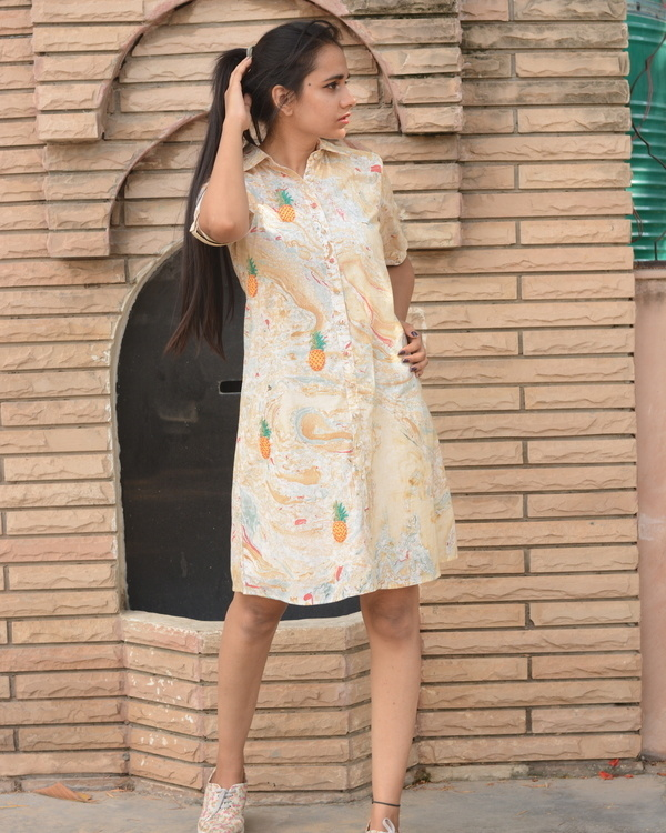 Embroidered marble dress 2