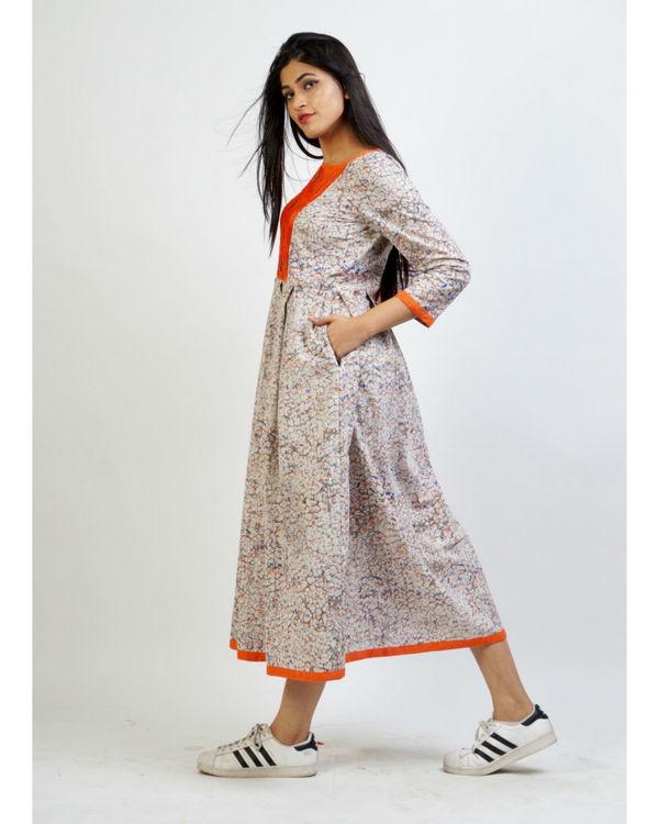 Ash grey panelled dress 1