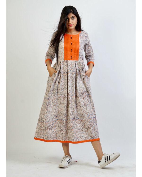 Ash grey panelled dress 2