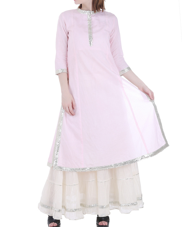 Pale pink sharara set 1