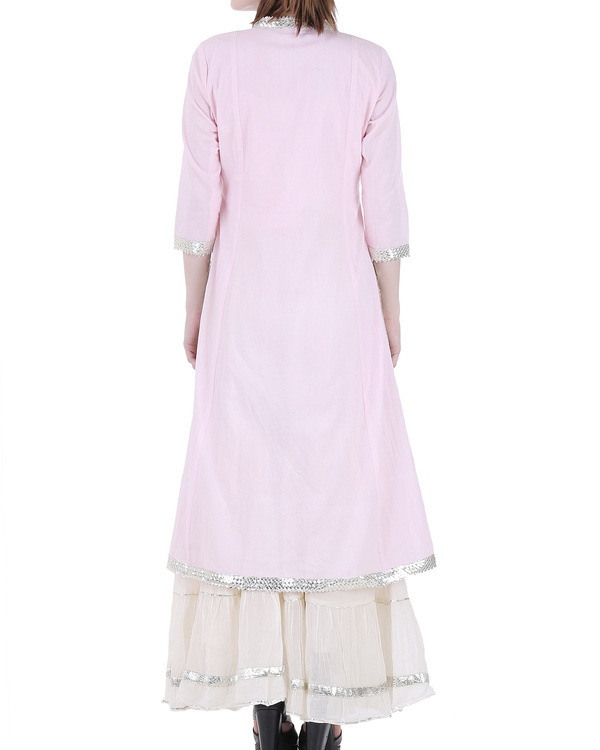 Pale pink sharara set 2