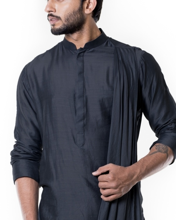 Grease black cowl kurta set 1