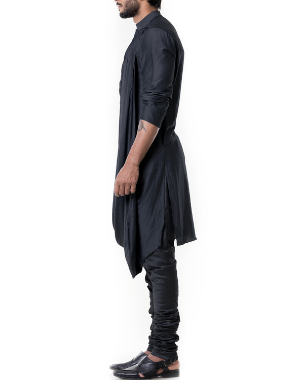 Grease black cowl kurta set 2