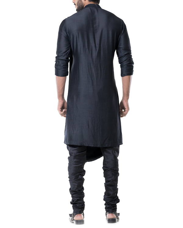Grease black cowl kurta set 3