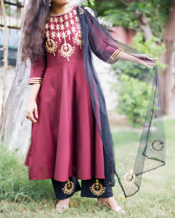 Maroon chandbala set 2