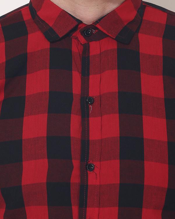 Red & black checks casual shirt 5