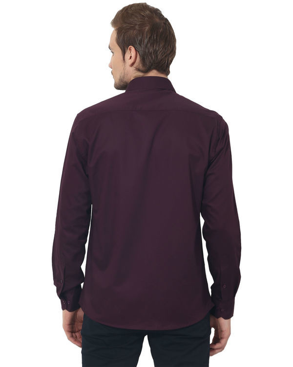Maroon solid club wear shirt 1