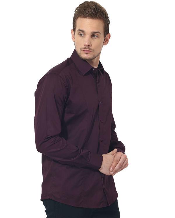 Maroon solid club wear shirt 3