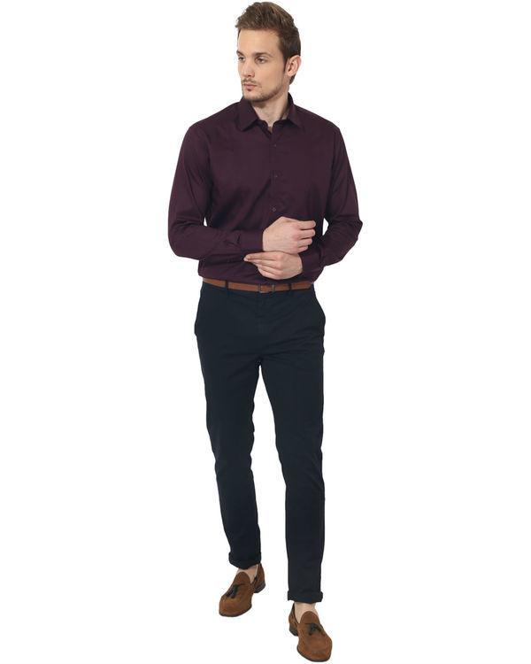 Maroon solid club wear shirt 4
