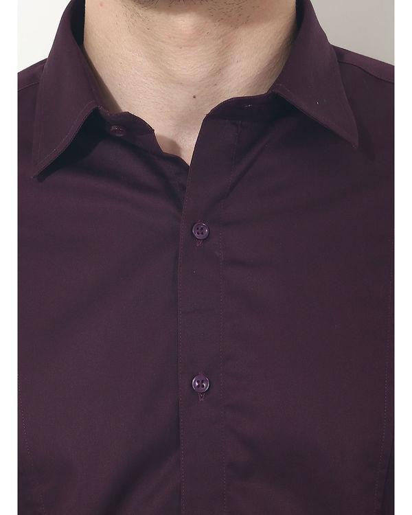 Maroon solid club wear shirt 5