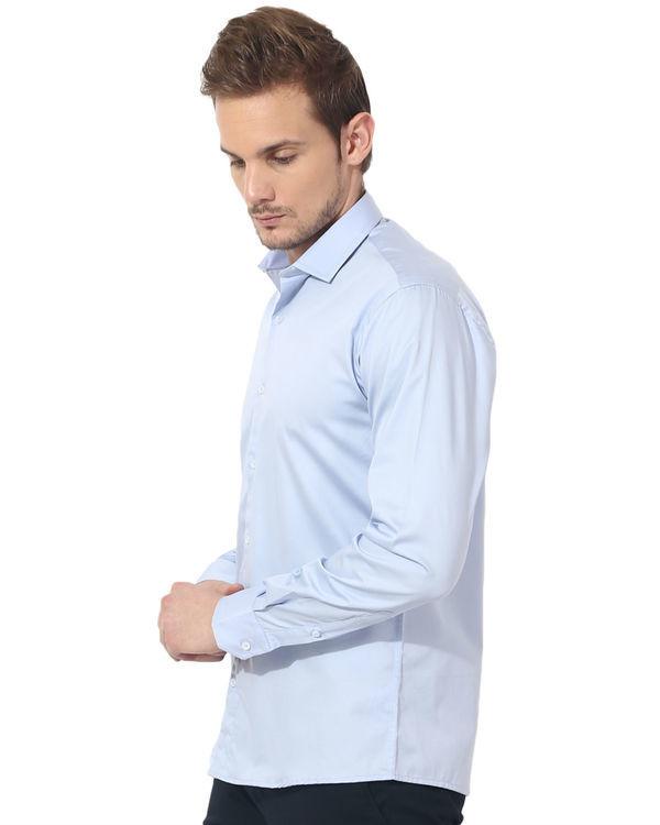 Sky blue solid club wear shirt 2
