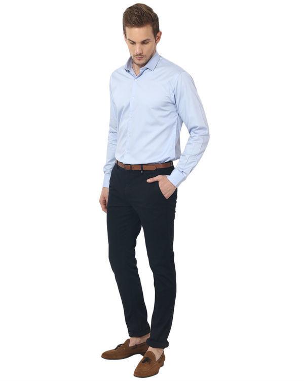 Sky blue solid club wear shirt 4