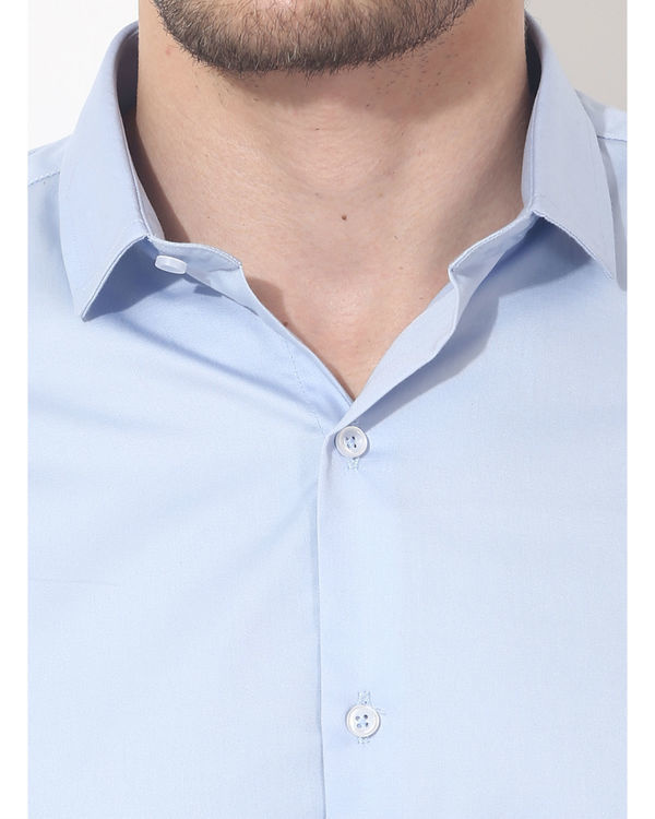 Sky blue solid club wear shirt 5