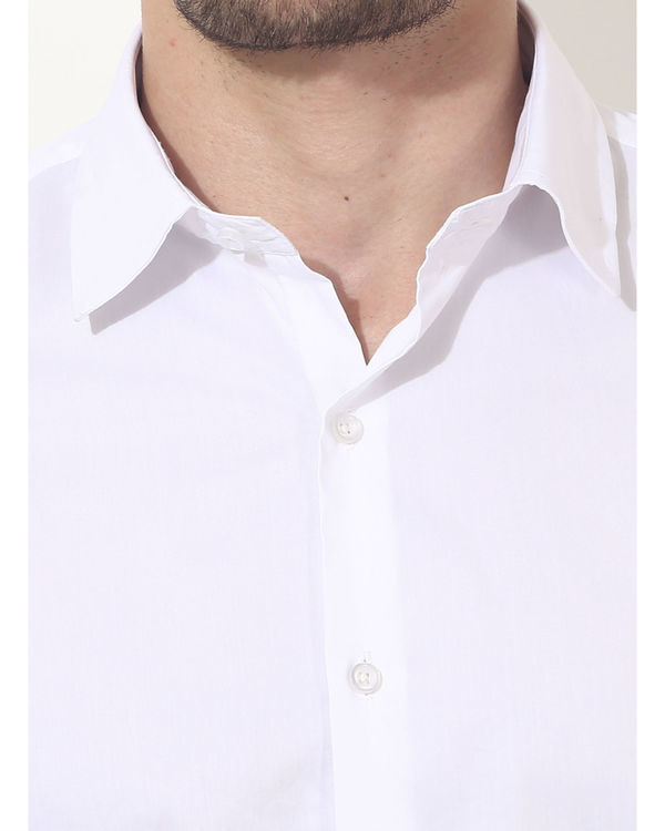 White bon solid club wear shirt 5