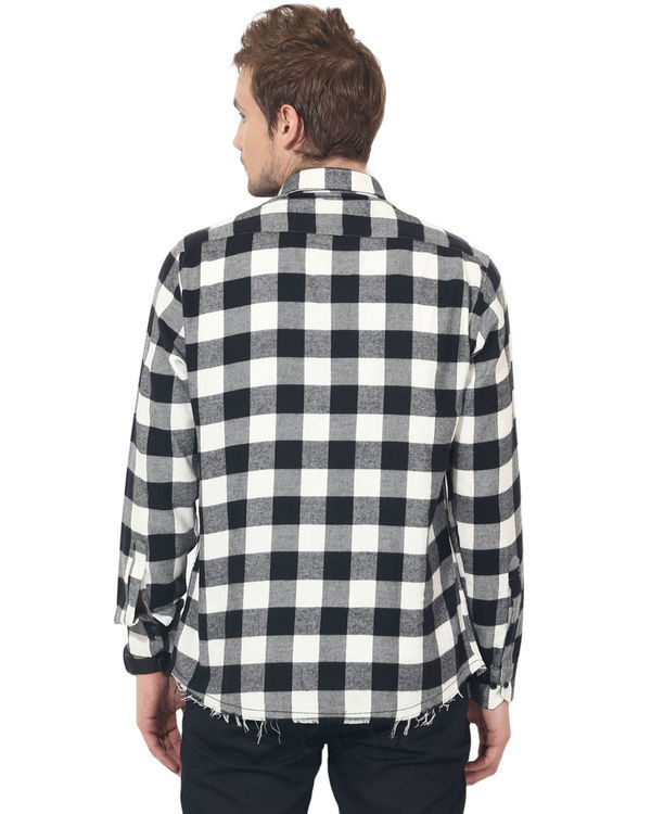 Black & white checks casual shirt 1