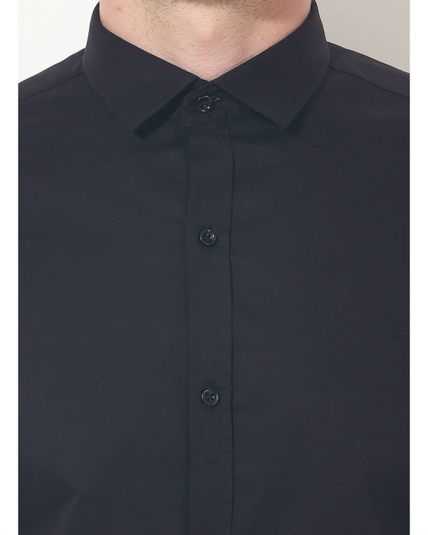 Black sleeve panel club wear shirt 5