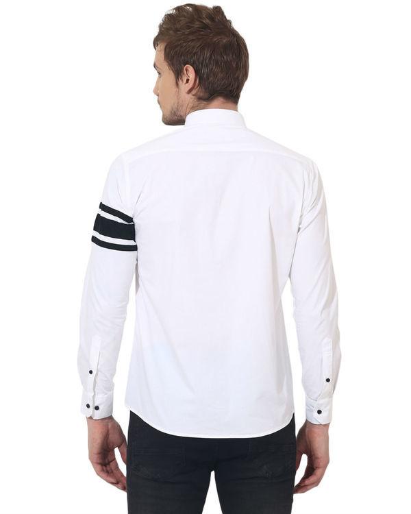 White sleeve panel club wear shirt 1