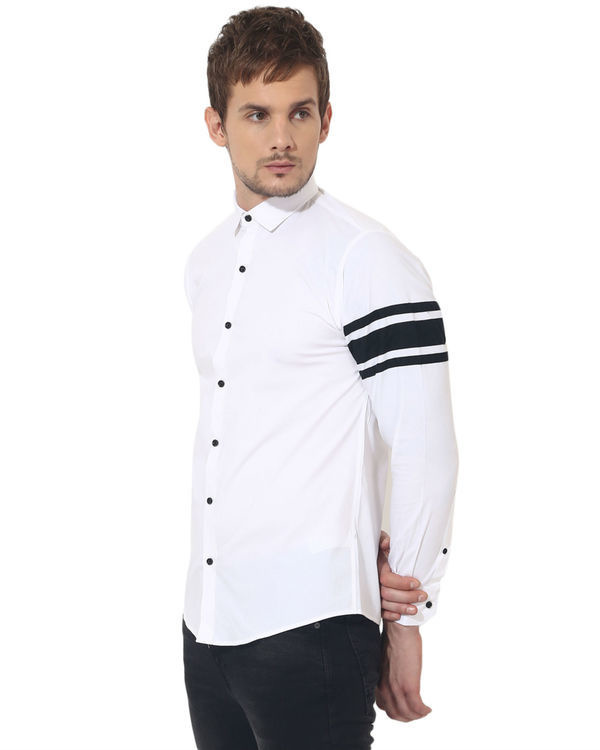 White sleeve panel club wear shirt 3