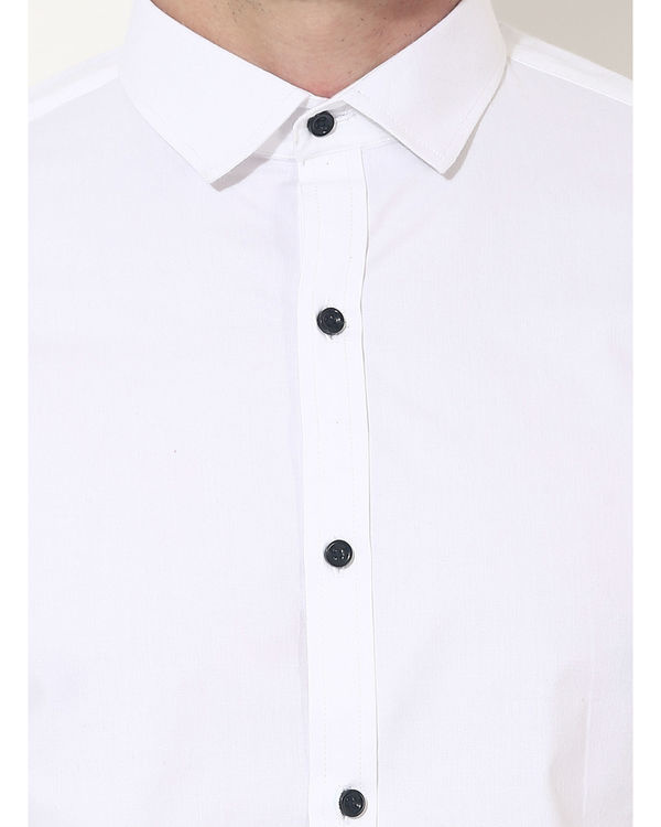 White sleeve panel club wear shirt 5
