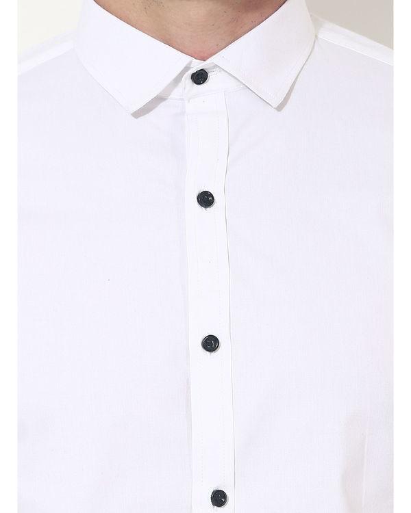 White sleeve panel club wear shirt 5