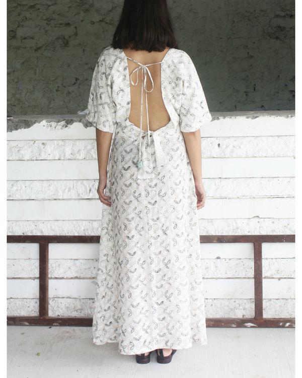 Long back tie dress 1