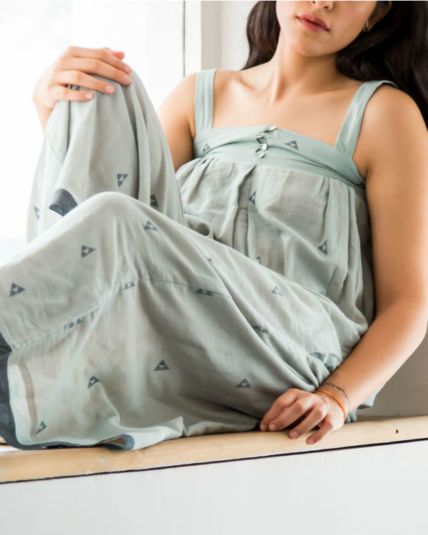 Green flared jumpsuit 2