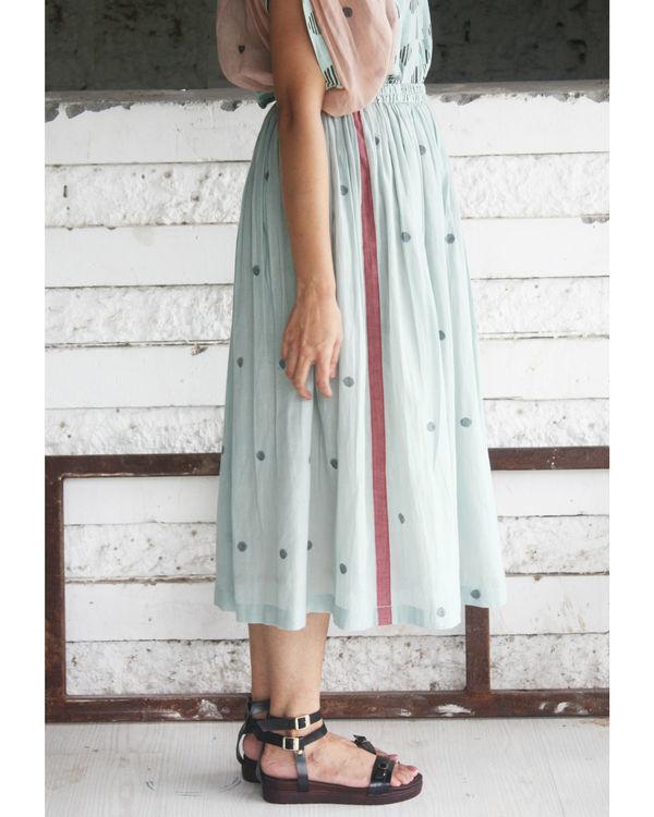 Green jamdani skirt 1