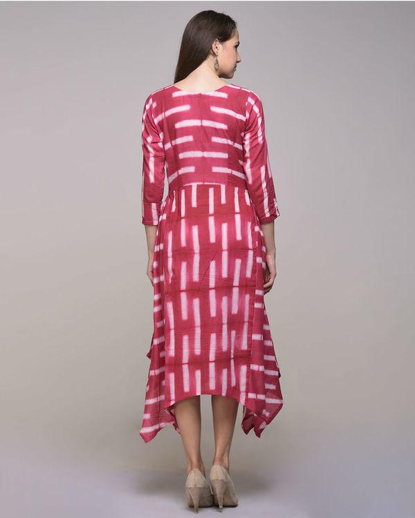 Fuchsia asymmetrical dress 1