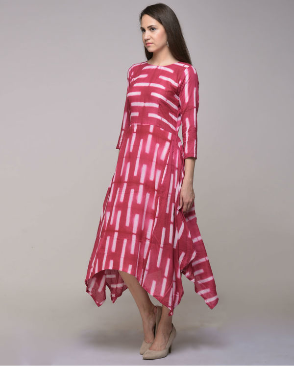 Fuchsia asymmetrical dress 2