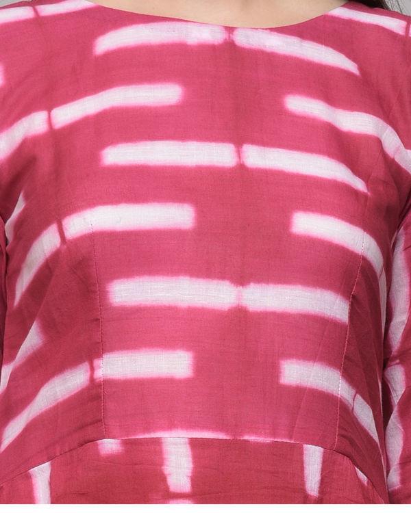 Fuchsia asymmetrical dress 3