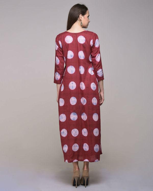 Polka dot pleated dress 1