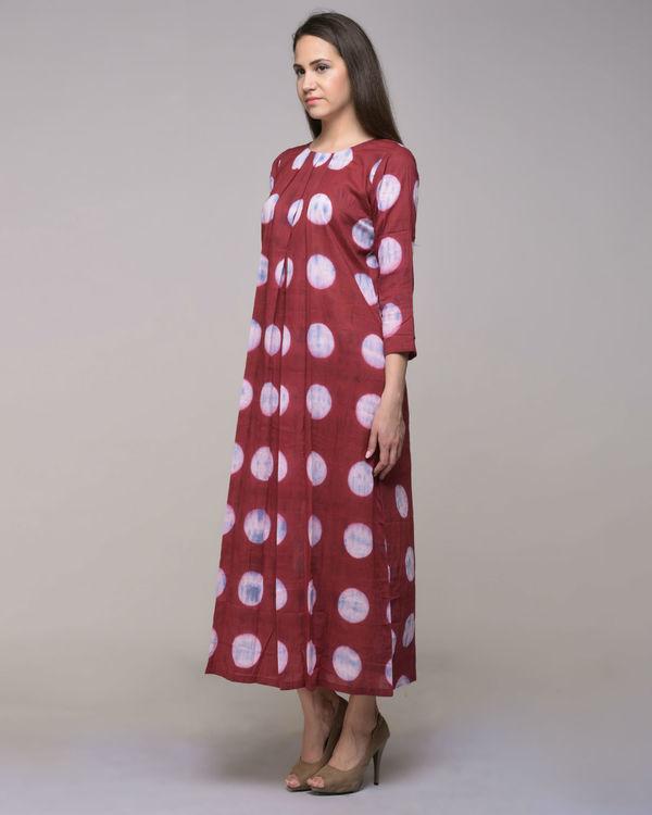Polka dot pleated dress 2