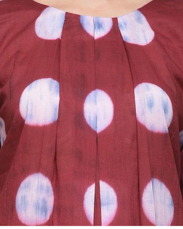 Polka dot pleated dress 3