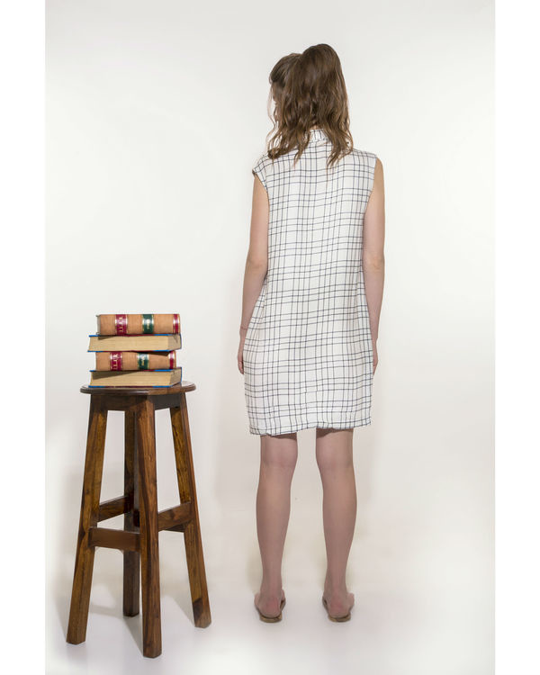Checkered dress with pockets 1