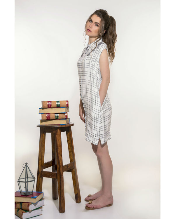 Checkered dress with pockets 2