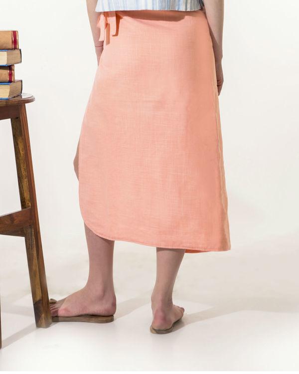 Peach wrap-a-round skirt 3